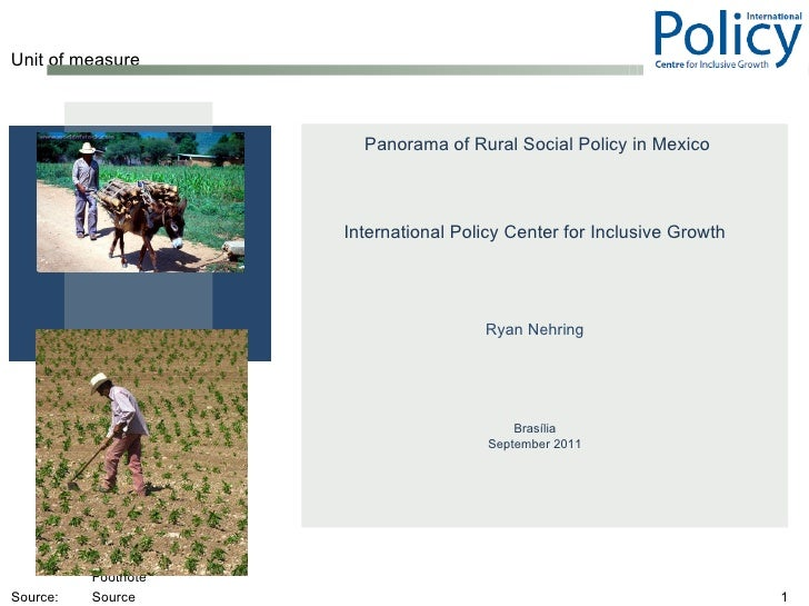 Rural Social Policy in Mexico