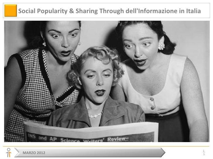 Social popularity & sharing through dell'informazione italiana