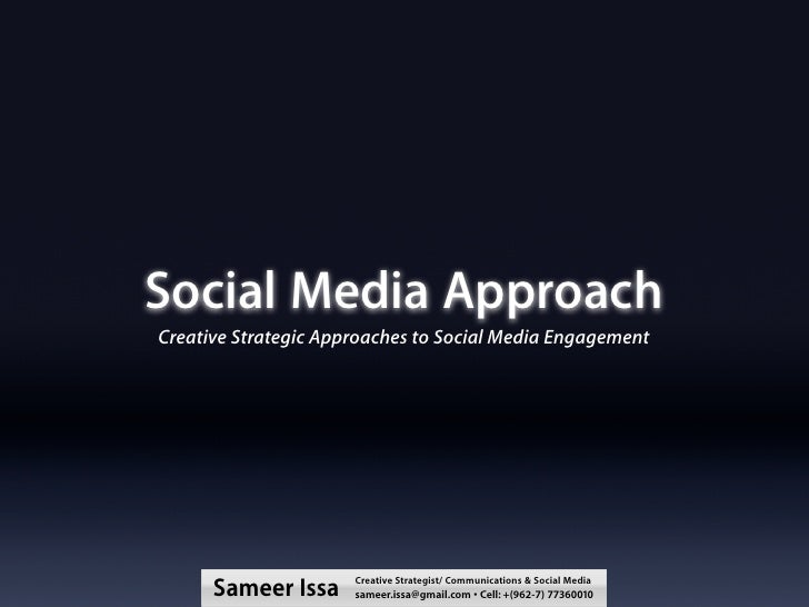 Social Media Strategic Creative Approach