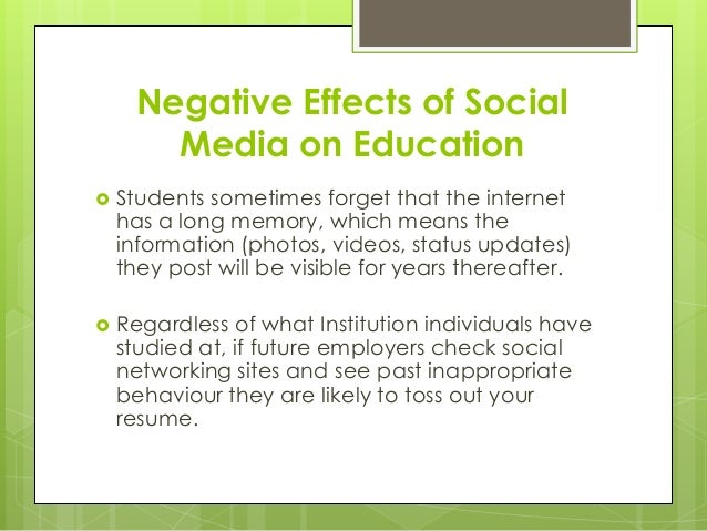 the negative effects of social networks