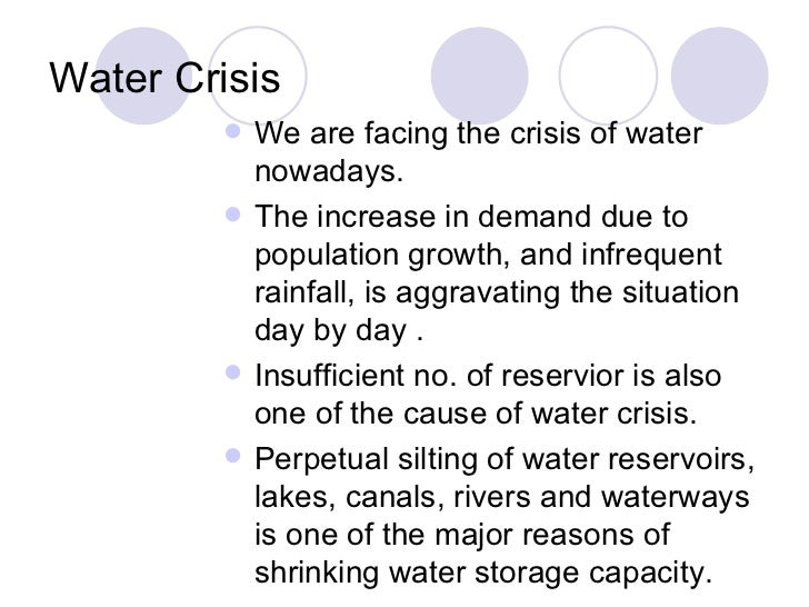 essay on water crisis and its solution