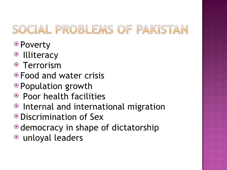 essay social problems of pakistan