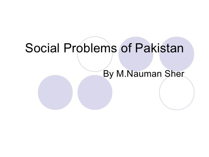 Social Problems of Pakistan             By M.Nauman Sher