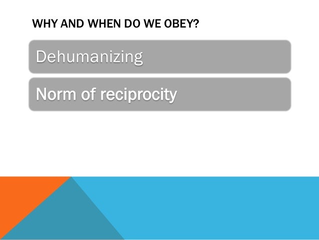 obediance and deindividuation Transforming people into perpetrators of evil  deindividuation in one sense this obedience research is limited to situations where a powerful authority is in .