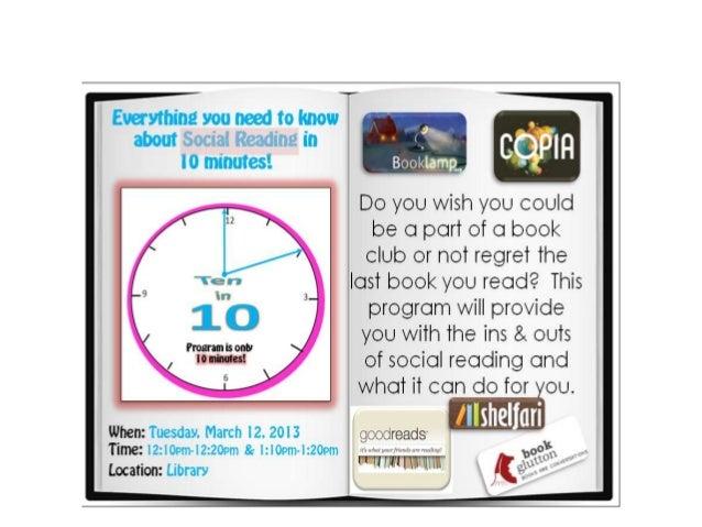 Social reading presentation for libguide