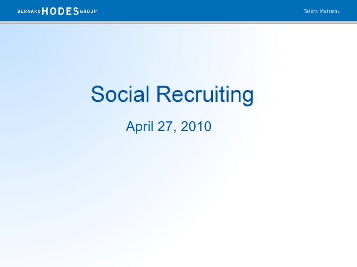 Social recruiting discussion 42710