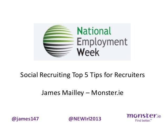 Social Recruiting at National Employment Week Feb 2013