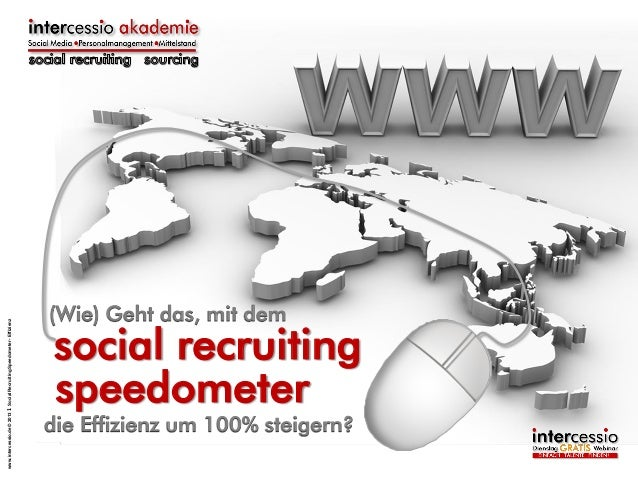www.intercessio.de © 2013 1 Social Recruiting Speedometer - Effizienz  (Wie) Geht das, mit dem  social recruiting speedome...
