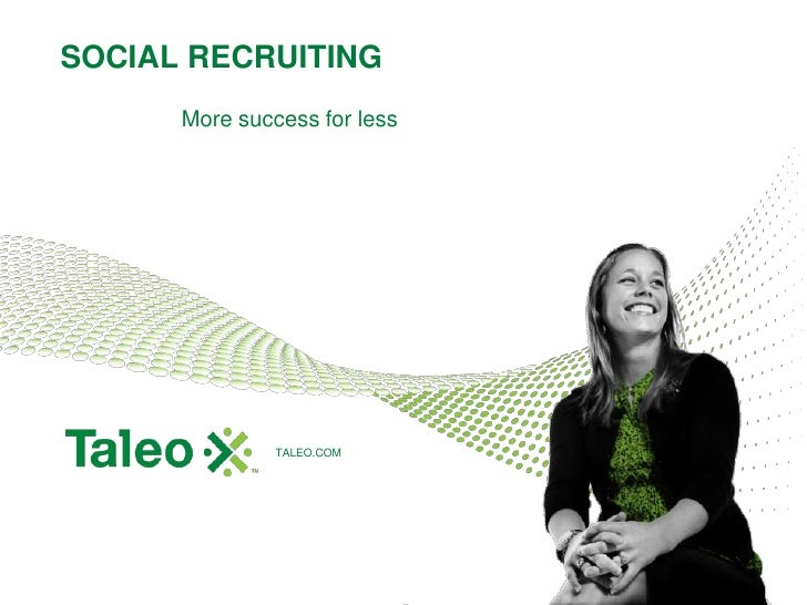 SOCIAL RECRUITING<br />More success for less<br />