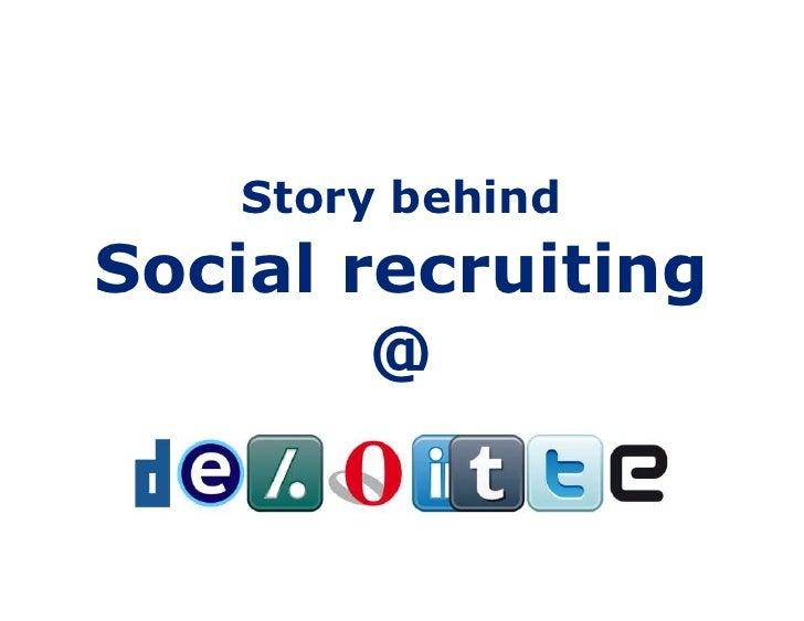 Social recruitment 28sept2011