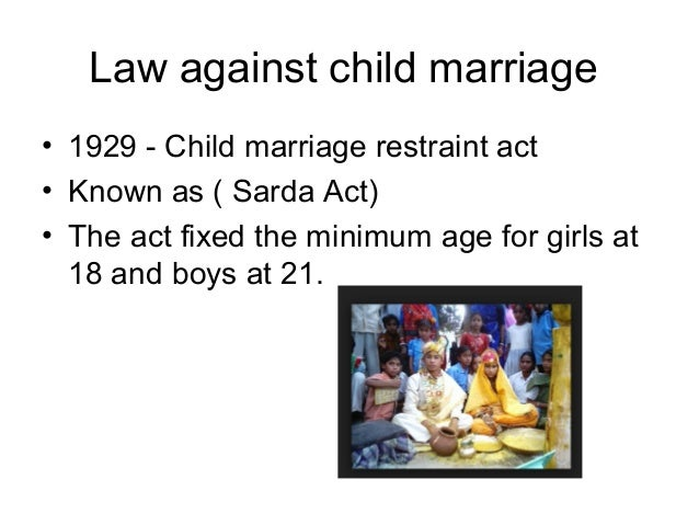 Child Marriage Restraint Act