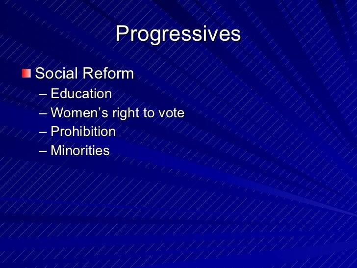 Social Reform in the Progressive Era