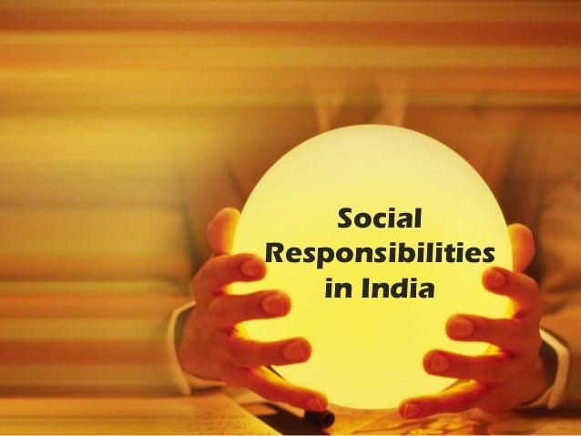 SocialResponsibilities   in India
