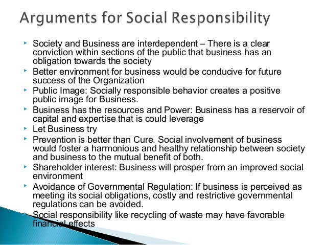 essay on responsibility towards society