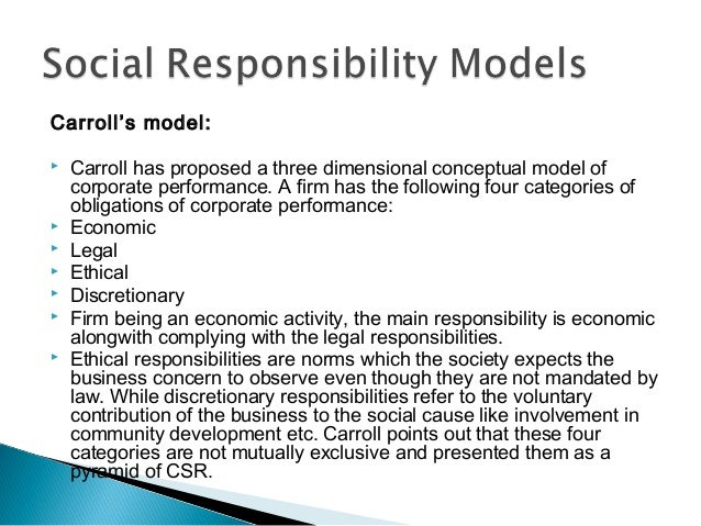 company q and social responsibility essay More essay examples on management rubric in this paper, the author suggests that corporate social responsibility may not be truly influential to the company's performance by analyzing and evaluating the reasons why there are various results concluded by different research from positive, negative, to neutral.