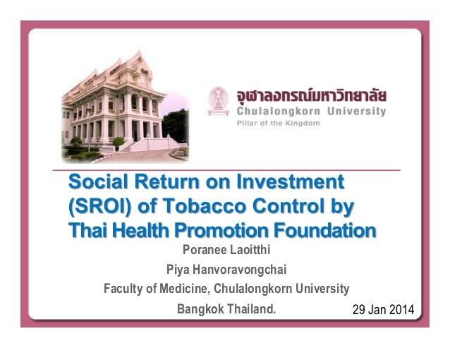 Poranee Laoitthi Piya Hanvoravongchai Faculty of Medicine, Chulalongkorn University Bangkok Thailand. 29 Jan 2014