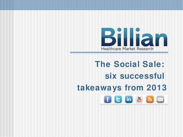 The Social Sale: Six Successful Takeaways from 2013