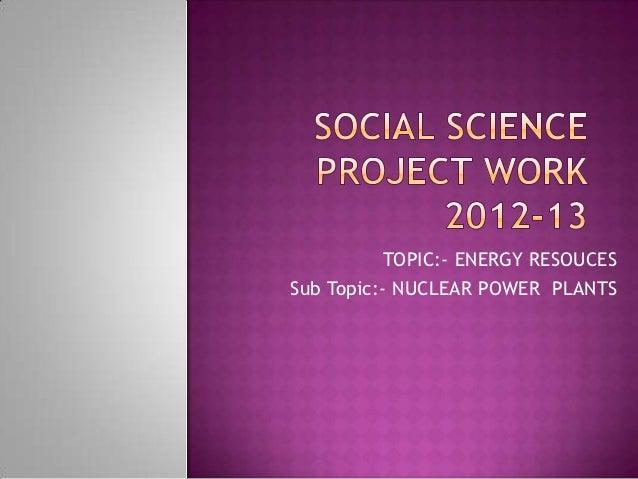 Nuclear energy power
