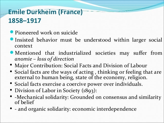 essays emile durkheim organic solidarity View this essay on emile durkheim on social solidarity durkheim is durkheim is considered the first french academic sociologist and a significant part of the.