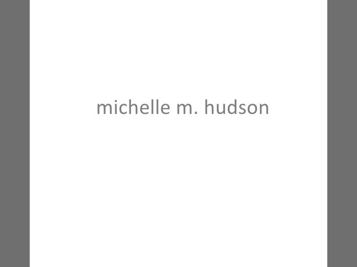 michelle m. hudson