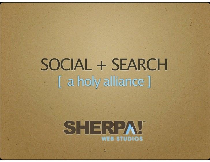 SOCIAL + SEARCH [ a holy alliance ]                       TM         WEB STUDIOS          1