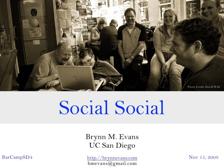 A BarCamp talk on Social Search