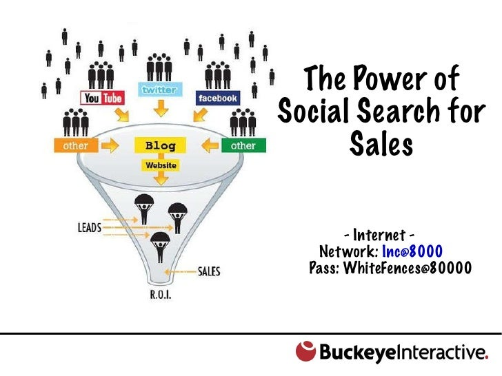 The Power of Social Search for Sales - Internet -  Network:  [email_address] Pass: WhiteFences@80000