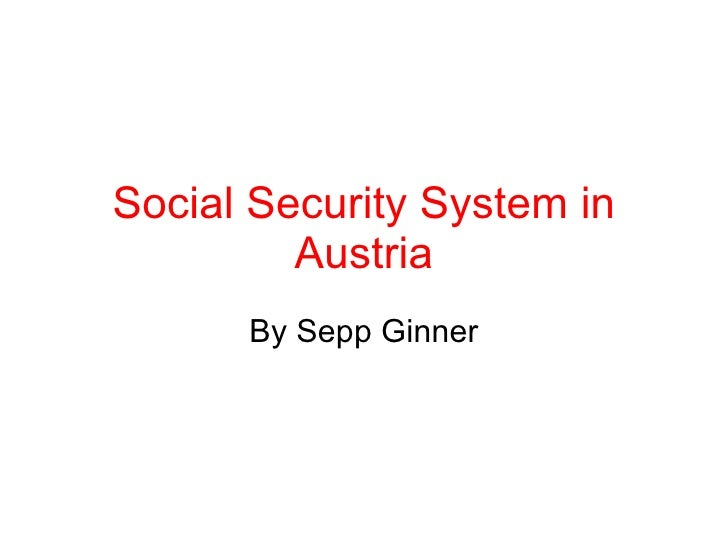 Social Security System In Austria