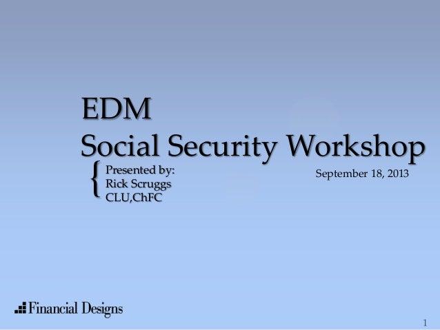 Social security workshop 9.18.13