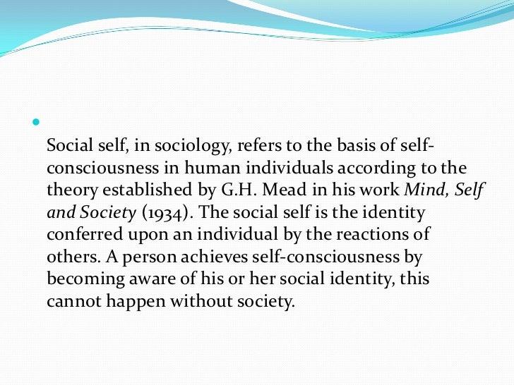 George Herbert mead the social self