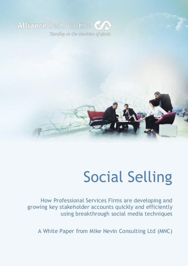 Social selling for professional services firms
