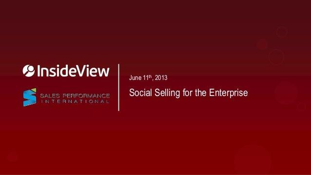 Social Selling for the Enterprise