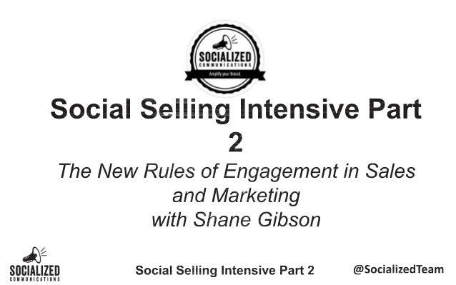Social Sales Training Intensive Part 2