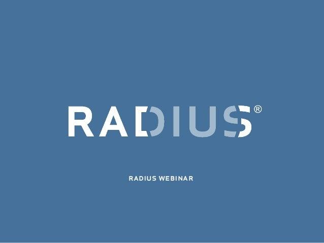 radius webinar