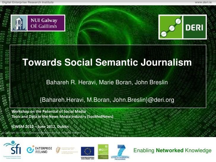 Towards Social semantic journalism