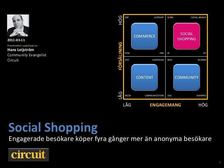 Social shopping by Hans Leijström