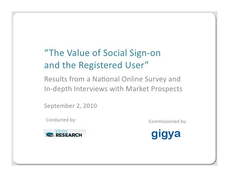 The Value of Social Sign-On and Registered Users