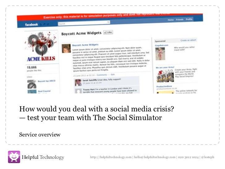 Social simulator overview autumn 2011