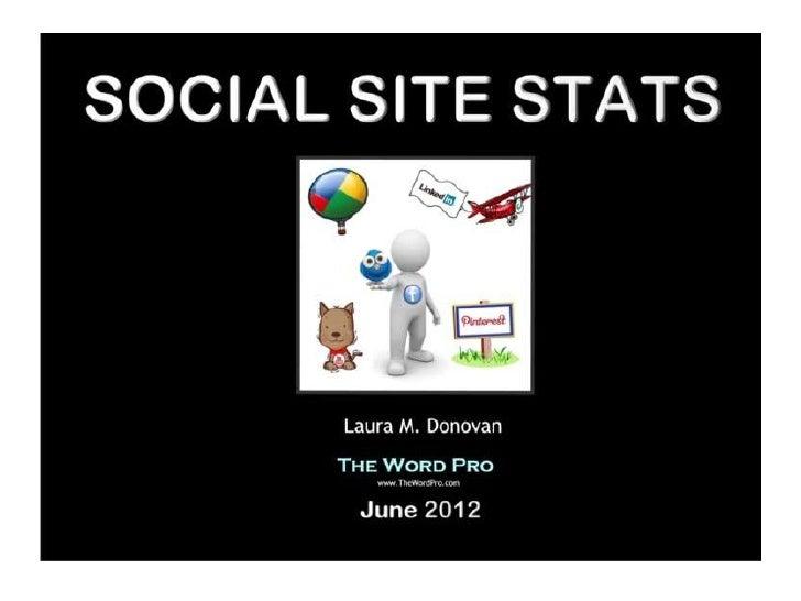 Social site stats 2012