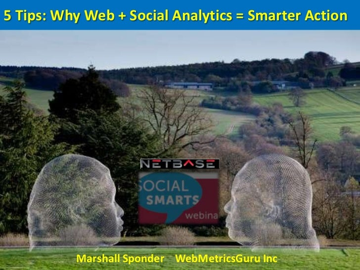 5 Tips: Why Web + Social Analytics = Smarter Action          Marshall Sponder WebMetricsGuru Inc