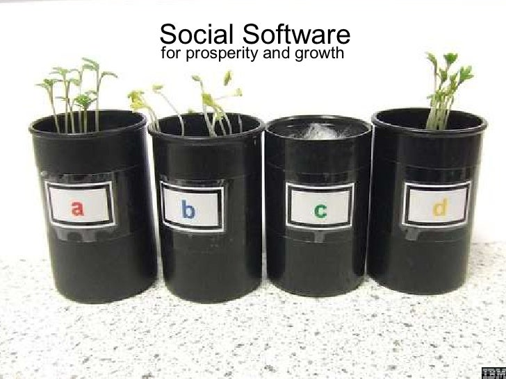 Social Software for prosperity and growth              Chris Sparshott