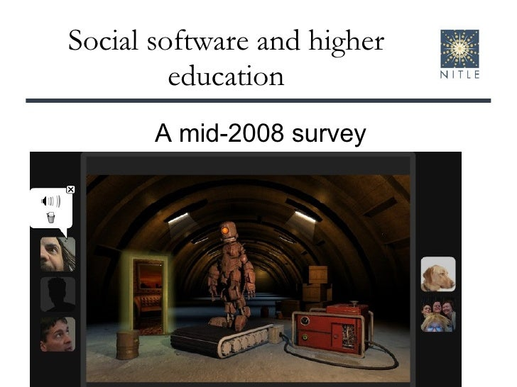 Social software for teaching and learning, mid-2008