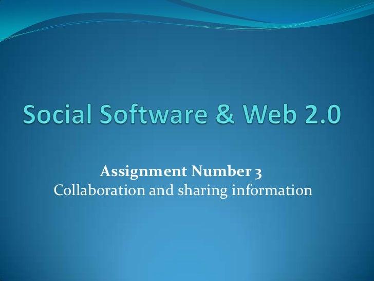 Social software & web 2.0