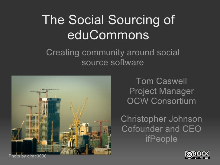 The Social Sourcing of eduCommons