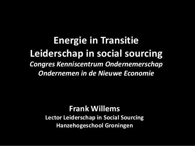 Energie in transitie, leiderschap in Social Sourcing