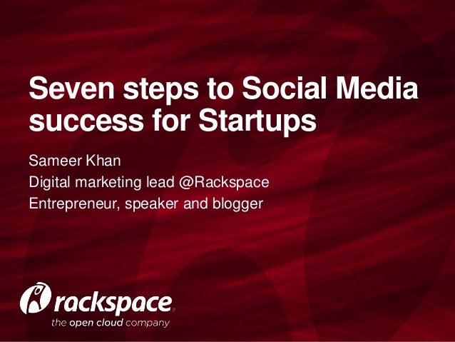Seven steps to Social Media success for Startups