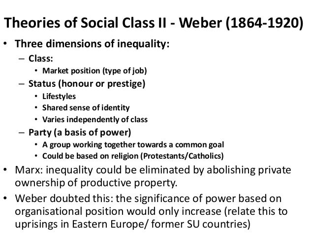 a comparison of stratification theorists by karl marx and max weber in philosophy Free essay: q: compare and contrast marxist and weberian theories of stratification the purpose of this essay is to compare claims and perspectives of both karl marx and max weber o'donnell (1992.