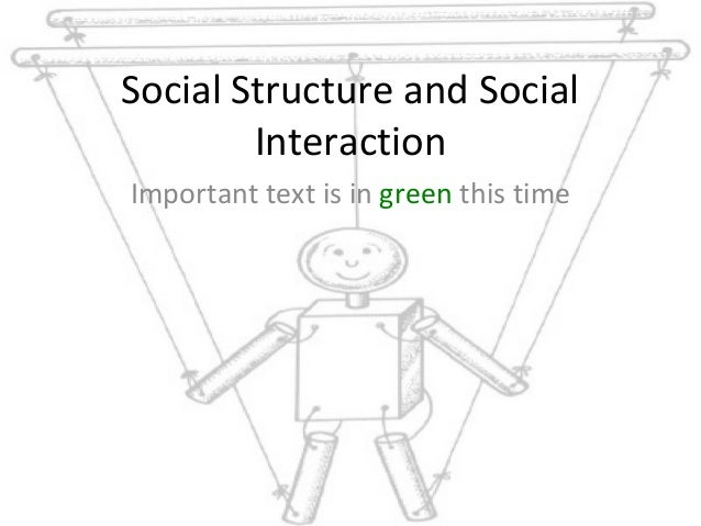 Social Structure and Social Interaction Important text is in green this time