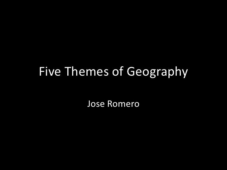 Social studies 5 themes of geography