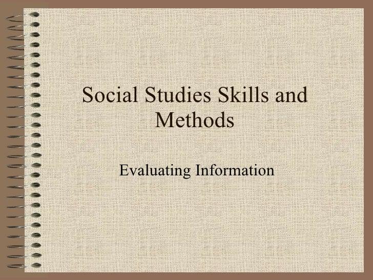 Social  Studies  Skills And  Methods